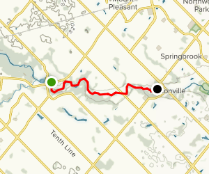 Credit River Canoe Trip Map