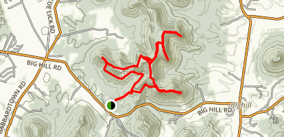 East and West Pinnacle Map