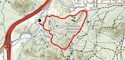 Trail 220 and Trail 100 Loop Map