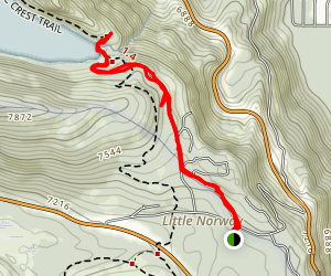 Little Norway to Lower Echo Lake Map