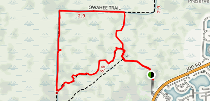 Apoxee Trail and Owahee Trail Loop Map