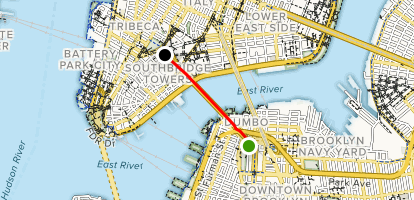 Brooklyn Bridge Walk via Brooklyn Map