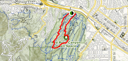 Roundup, Mesa, Quarry Pass Trail Map