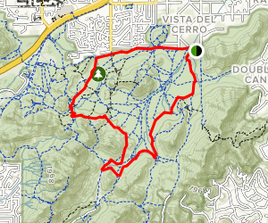 Phoenix Mountains MTB Loop Map