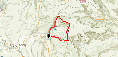 Kinder Scout and Kinder Downfall Map