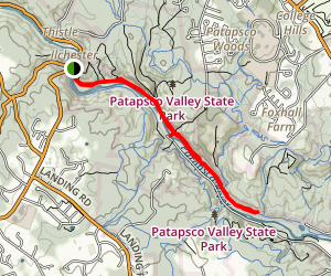 Grist Mill Trail via Ilchester Map