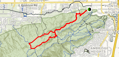 Javelina to Mormon Loop Map
