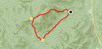 Big Slide Mountain via The Brothers, Slide Mountain Brook and Phelps Trail Loop Map