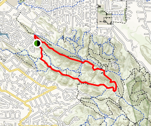 Ridge Top Trail to Briones to Mount Diablo Recreational Trail Loop Map
