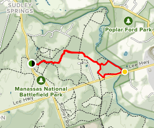 Bull Run Battlefield Map