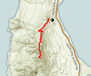 Frary Peak Trail Map