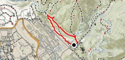 Booneville Shoreline Trail Loop Map