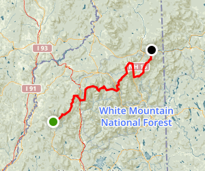 Appalachian Trail White Mountains National Forest New Hampshire - Us map with appalachian mountains