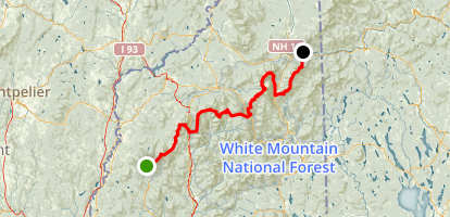Appalachian Trail: White Mountains National Forest Map