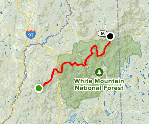 Appalachian Trail White Mountains National Forest New Hampshire - Appalachian trail new hampshire map