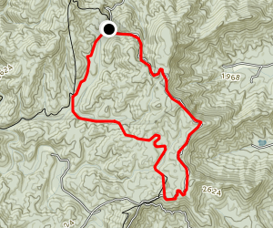Benton Mackaye Daly Gap Loop Map