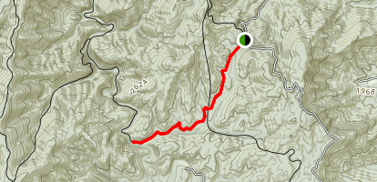 Jacks River Day Hike Map