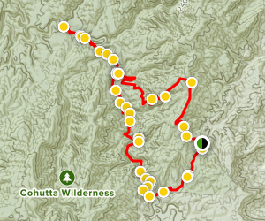 Jack River Loop with Spur to Falls Map