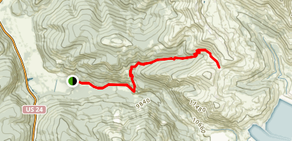 Colorado Trail: Camp Hale to Kokomo Pass Map