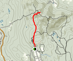 Shannon's Trail to Crotched Mountain Lookout Map