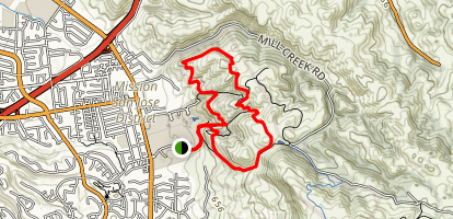 Mission Peak Short Loop Map