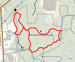 Wenakeening Woods Loop Map