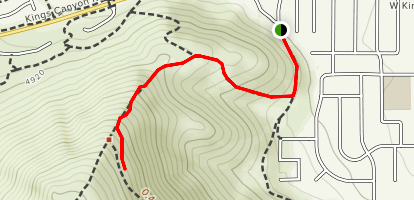 C Mountain Foothill Trail Map