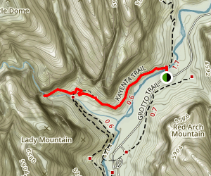Kayenta Trail to the Emerald Pools Map