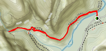Kayenta Trail to the Emerald Pools (CLOSED) Map