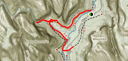 Kayenta Trail to the Emerald Pools and Zion Lodge Map