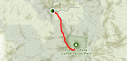 Flinder's Peak Trail Map