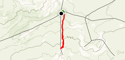 Fortymile Ridge to Sunset Arch Map