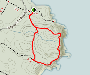 Diamond Head Loop Map