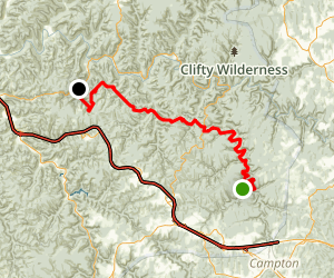 Swift Camp Creek Trail and Rough Trail  Map
