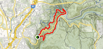 Western States Trail to Manzanita Trail Loop Map