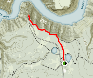 Canyon Rim Trail to Red Canyon Overlook from Red Canyon Lodge Map