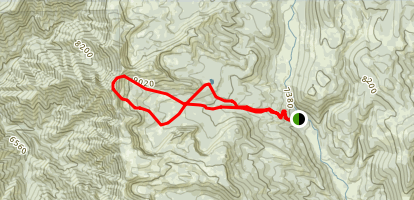 Steep Canyon Trail to Doubletop Mountain and Crescent Lake Map