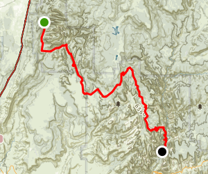 Trans-Zion Traverse: Lees Pass to the Grotto Map