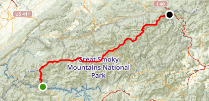 Appalachian Trail: Fontana Dam to Davenport Gap Map