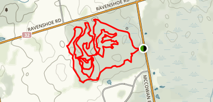 Raven Shoe Trail from McCowan Road Map