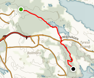 Sörmlandsleden Trail: Section 2 Map