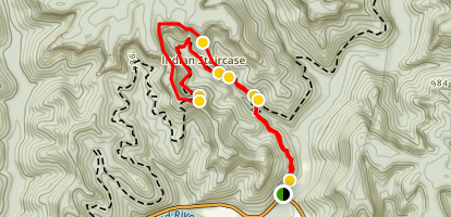 Indian Staircase Trail Map