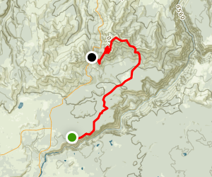 Seven Mile Hole and Mount Washburn Spur Map