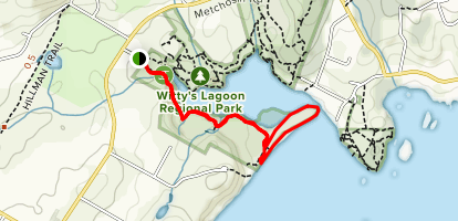 Witty's Lagoon Beach Trail Map