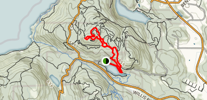 Durance Lake to Partridge Hills Loop Map