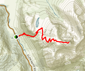 Ben Nevis Via Youth Hostel Path Map