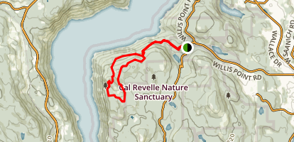 Timberman Trail to Jocelyn Hill Loop Map