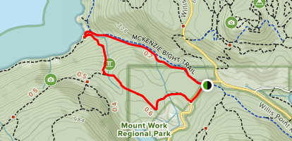 Mckenzie Bight Trail Loop Map