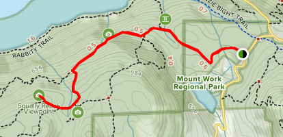 Timberman Trail to Squally Reach Viewpoint Map
