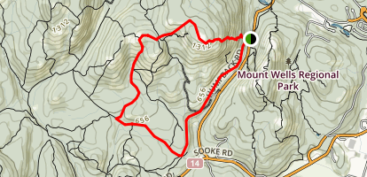 Mount McDonald and John Stick Peak  Map